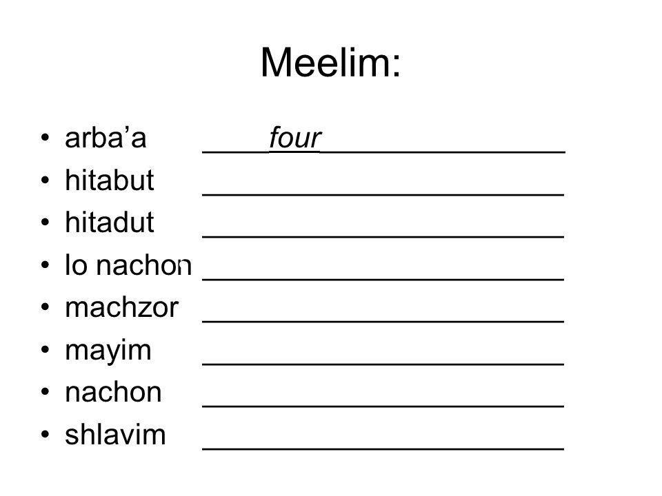 Yesh _________ shlavim shel Machzor HaMayim.