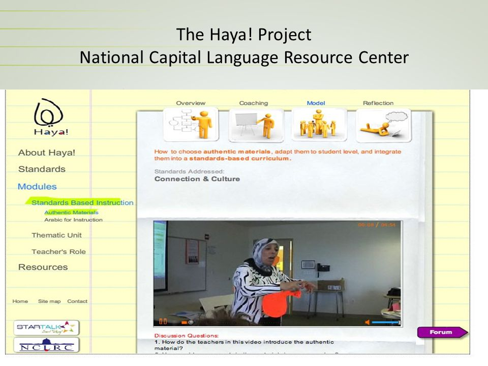 The Haya! Project National Capital Language Resource Center