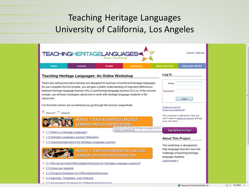 Teaching Heritage Languages University of California, Los Angeles