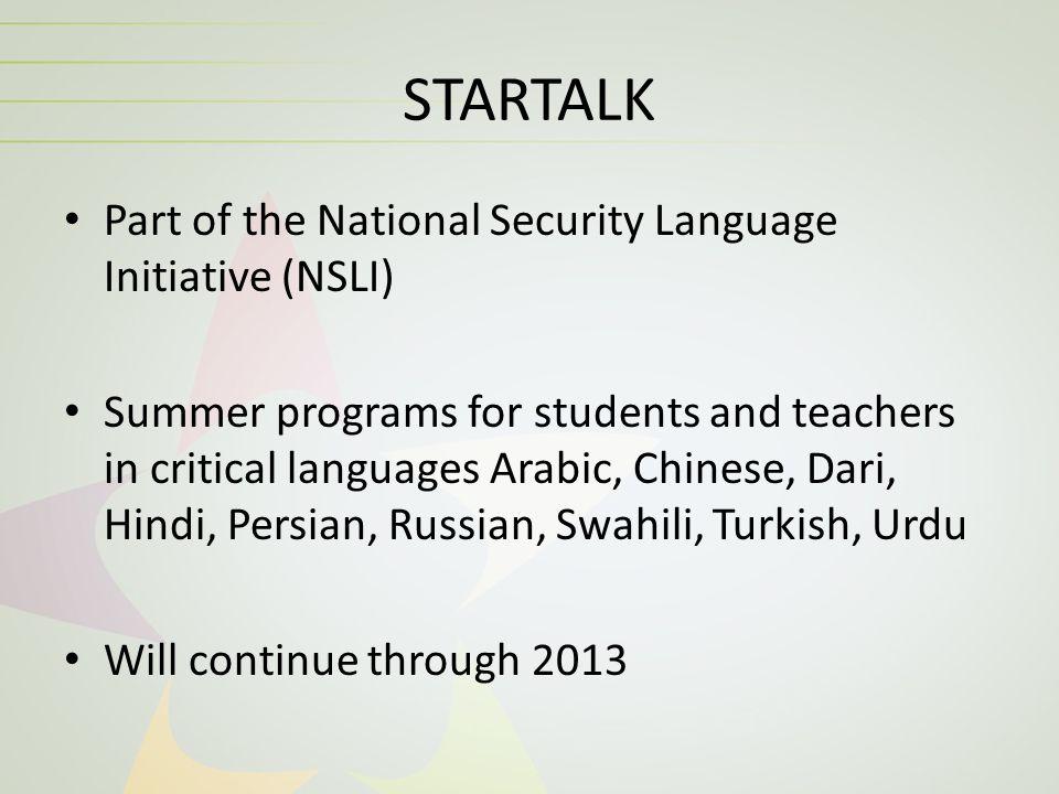 STARTALK Multimedia Workshop – Assessment for Language Instructors: The Basics Center for Applied Linguistics (CAL)