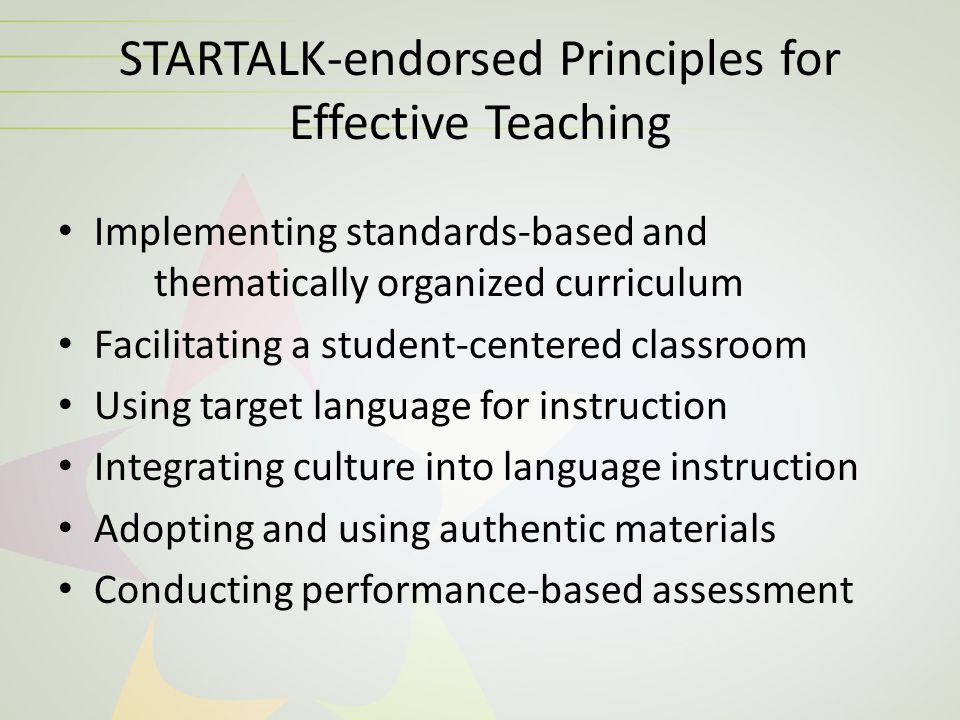 Teacher Training Videos  Classroom examples  STARTALK-endorsed effective practices in Arabic, Chinese, Hindi, Persian, Swahili, Turkish and Urdu  Videos can be used alone or incorporated into more extensive teacher education programs.