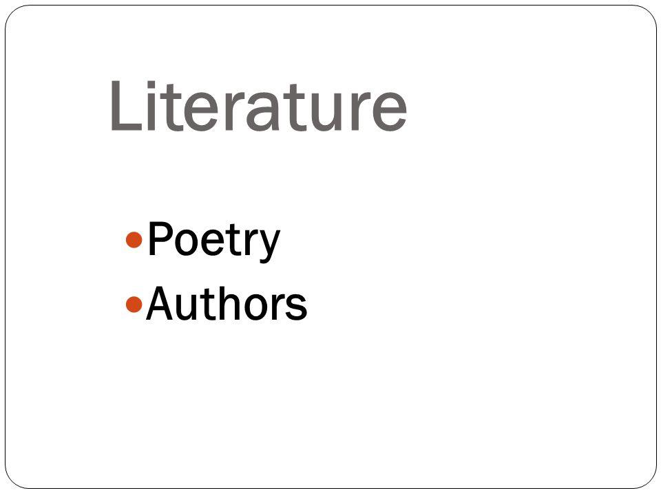 Poetry Authors