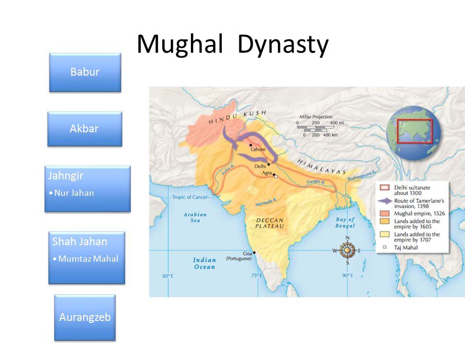 Mughal Dynasty Babur Akbar Jahngir Nur Jahan Shah Jahan Mumtaz Mahal Aurangzeb
