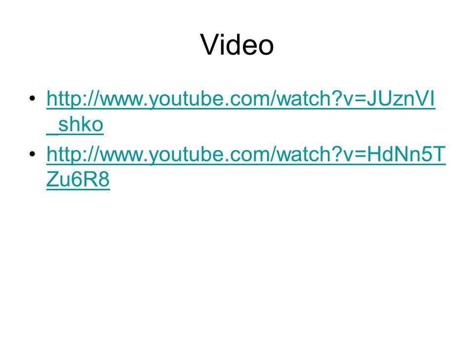 Video http://www.youtube.com/watch?v=JUznVI _shkohttp://www.youtube.com/watch?v=JUznVI _shko http://www.youtube.com/watch?v=HdNn5T Zu6R8http://www.youtube.com/watch?v=HdNn5T Zu6R8