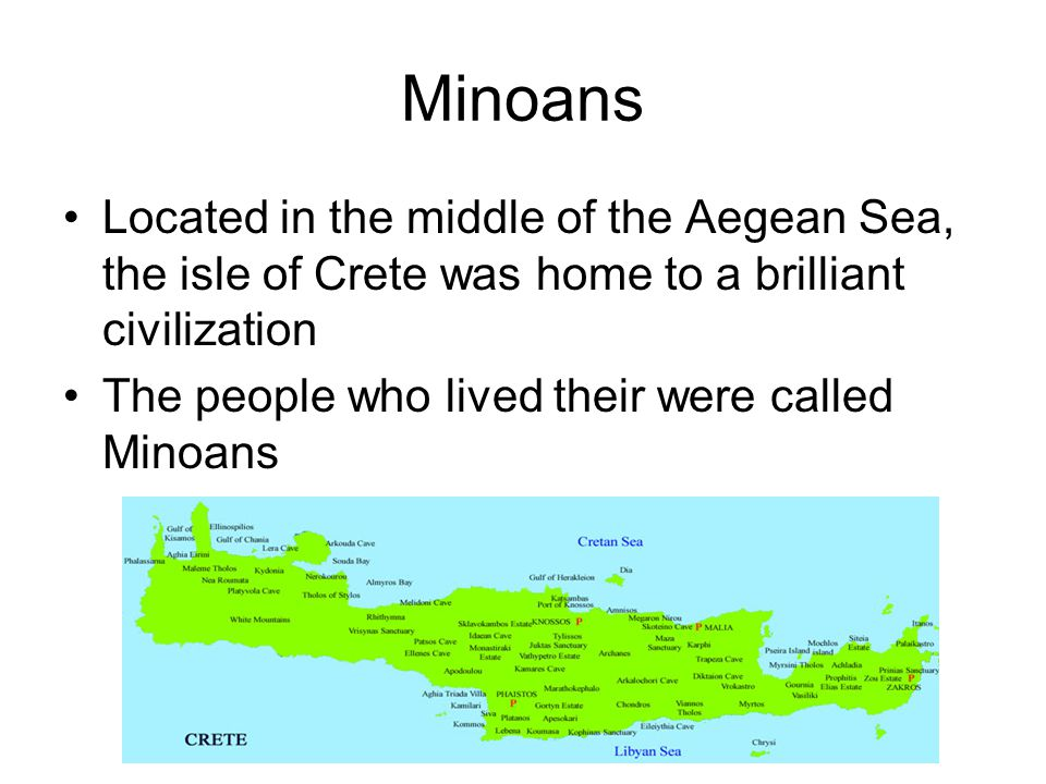 Minoans Trade and Prosper Success was based on trade, not conquest.