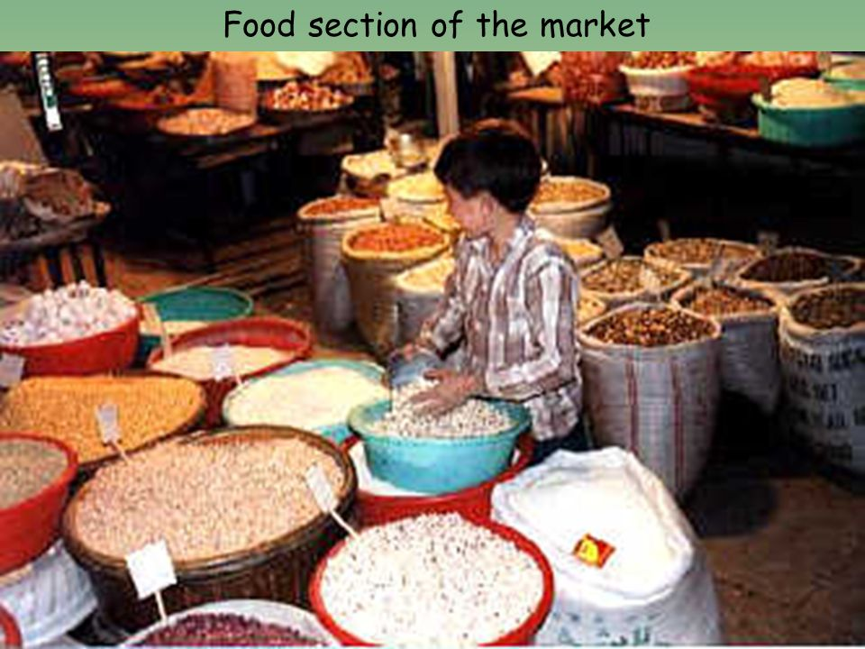 Food section of the market