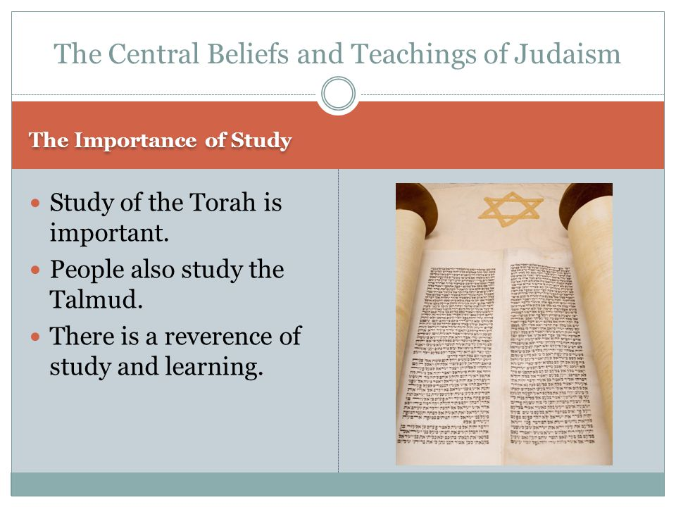 The Talmud The Collection of ancient Jewish writings that interpret the law of the Torah.