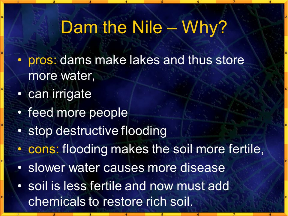 Dam the Nile – Why.
