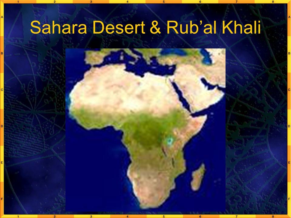Sahara Desert & Rub'al Khali