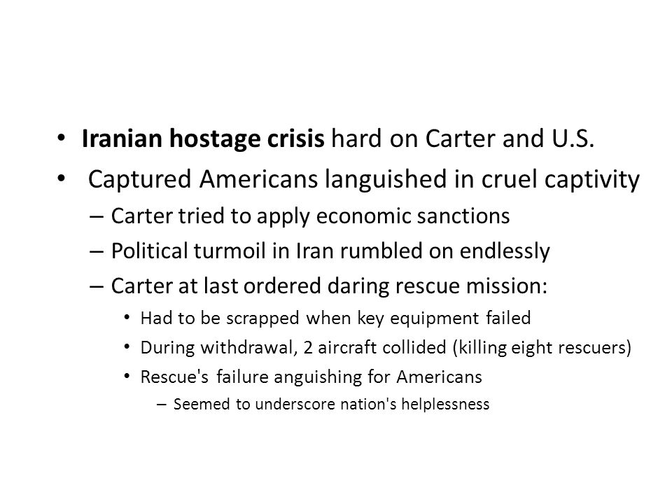 Iranian hostage crisis hard on Carter and U.S.