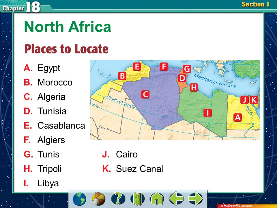 Section 1 Indigenous ethnic groups, migrations, and the dramatic climate have shaped population patterns in North Africa.