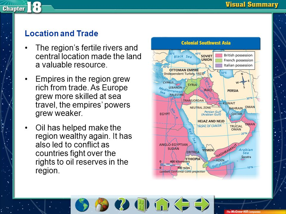 VS 2 Location and Trade The region's fertile rivers and central location made the land a valuable resource. Empires in the region grew rich from trade