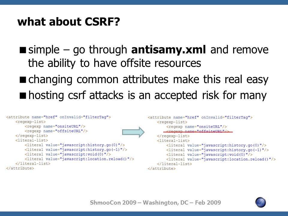 ShmooCon 2009 – Washington, DC – Feb 2009 what about CSRF.