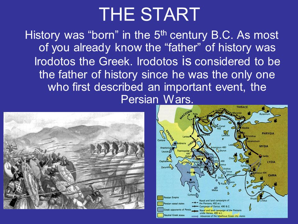 THE PARTS Scientists have separated history in 5 different categories: (Ancient, Roman, Byzantine, Medieval and Present).
