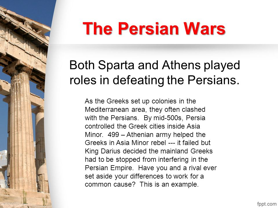 The Greeks knew that as the huge Persian army marched south, it depended on shipments of food brought in by boat.