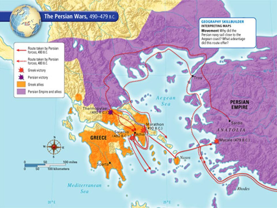 The Battle of Marathon In 490 B.C.