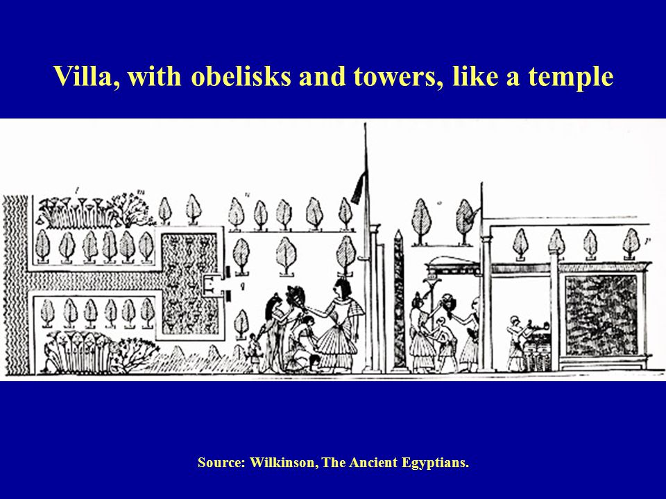 Source: Wilkinson, The Ancient Egyptians. Villa, with obelisks and towers, like a temple