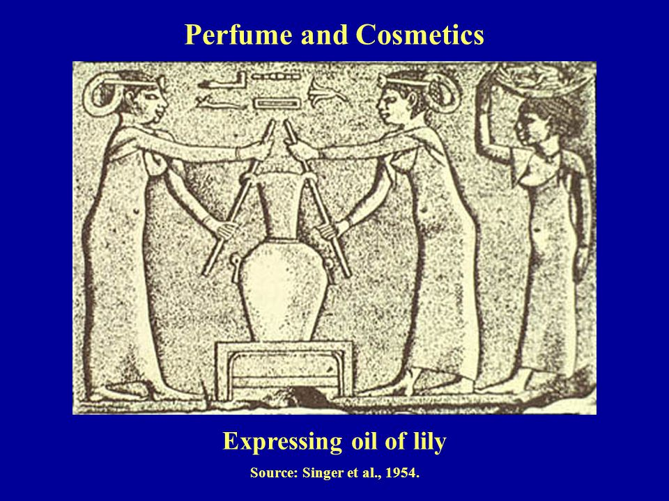 Expressing oil of lily Source: Singer et al., 1954. Perfume and Cosmetics