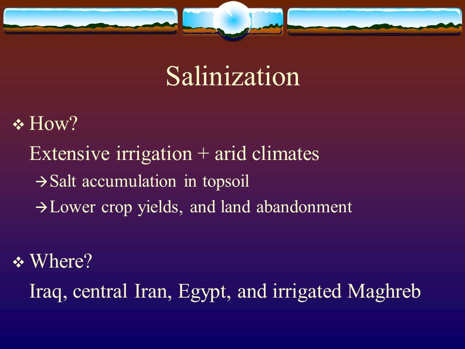 Salinization  How.