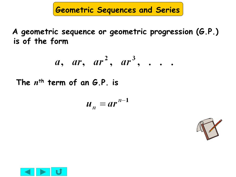 Geometric Sequences and Series e.g.