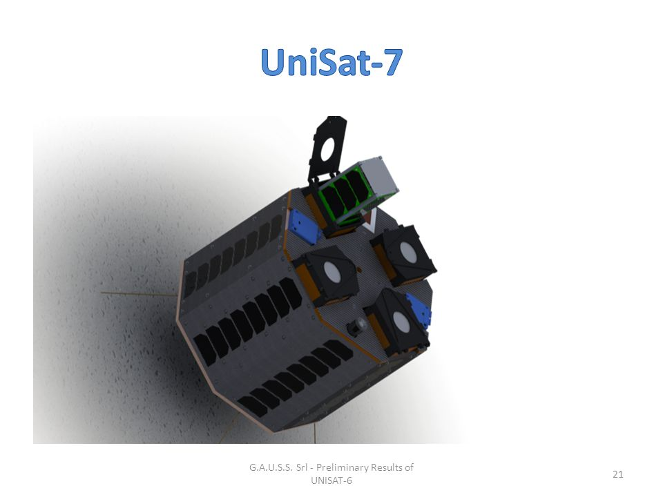 G.A.U.S.S. Srl - Preliminary Results of UNISAT-6 21