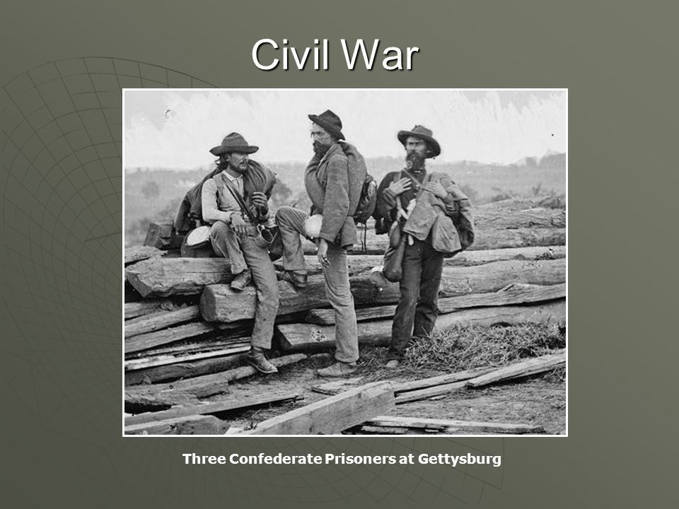 Civil War Three Confederate Prisoners at Gettysburg