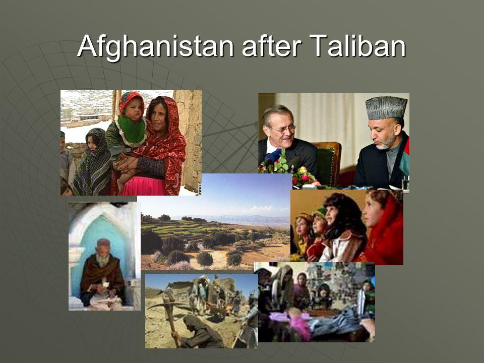 Afghanistan after Taliban