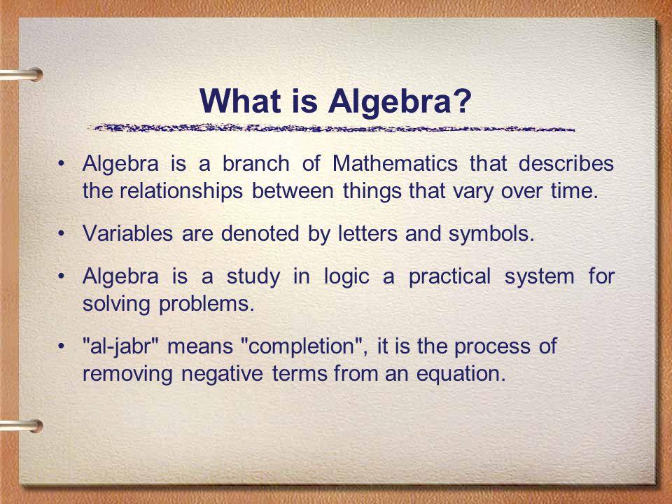 What is Algebra.