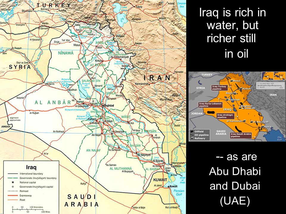 with almost 1 million dead over the past 5 years Its own oil has drenched I raq in blood,