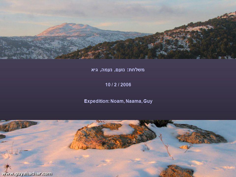 פתיחה מנצחת עם גביעונית A blooming start with the Persian fritillary, which decorates Tel Kraoit area, North-West of Arad משלחת: נועם, נעמה, גיא 10 / 2 / 2006 Expedition: Noam, Naama, Guy
