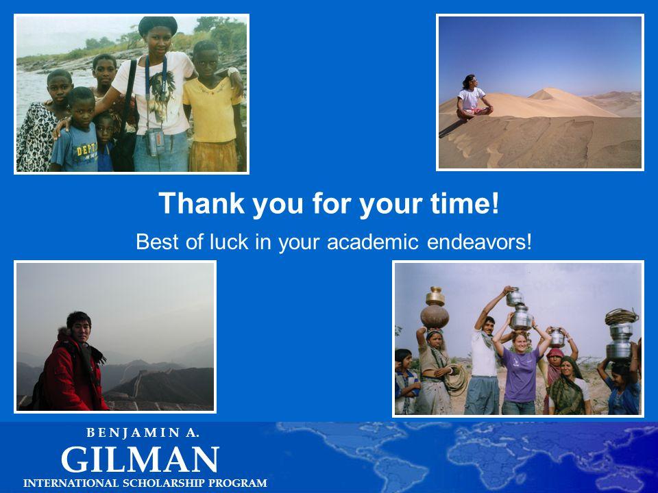 Other Study Abroad Resources INTERNATIONAL SCHOLARSHIP PROGRAM GILMAN B E N J A M I N A.