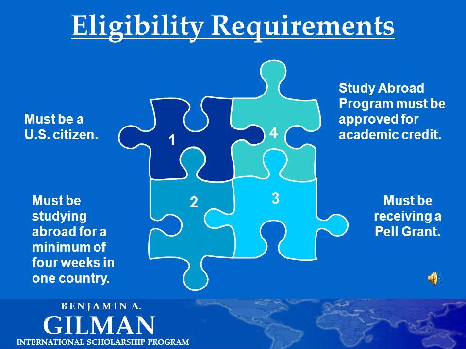Gilman Program Overview INTERNATIONAL SCHOLARSHIP PROGRAM GILMAN B E N J A M I N A.