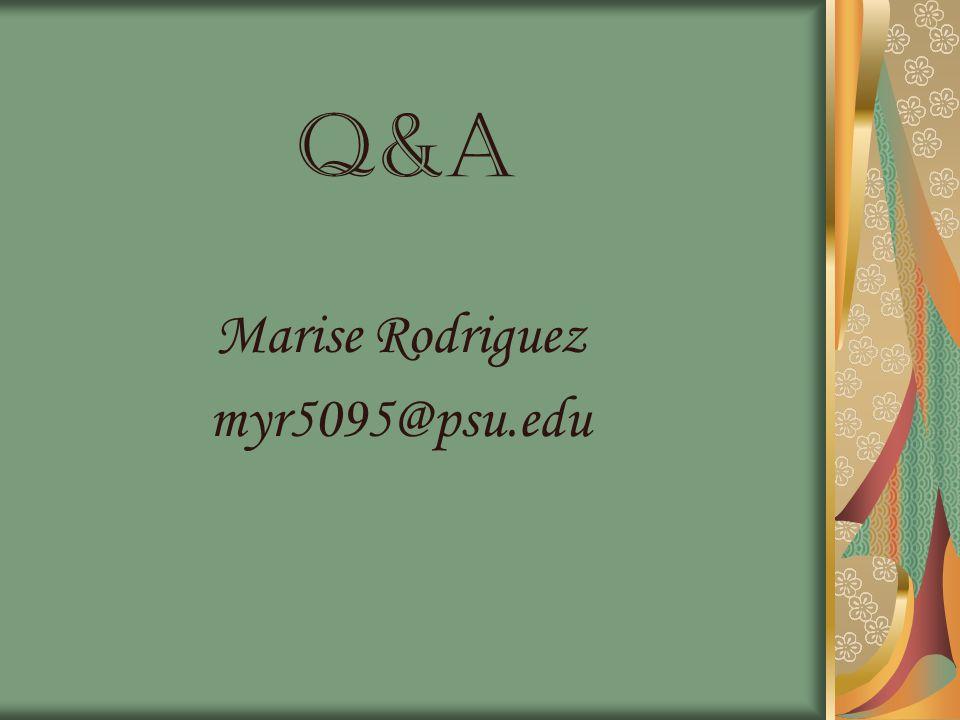 Q&a Marise Rodriguez myr5095@psu.edu