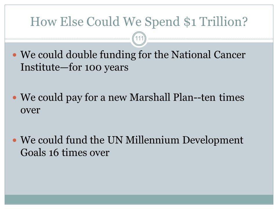 How Else Could We Spend $1 Trillion.