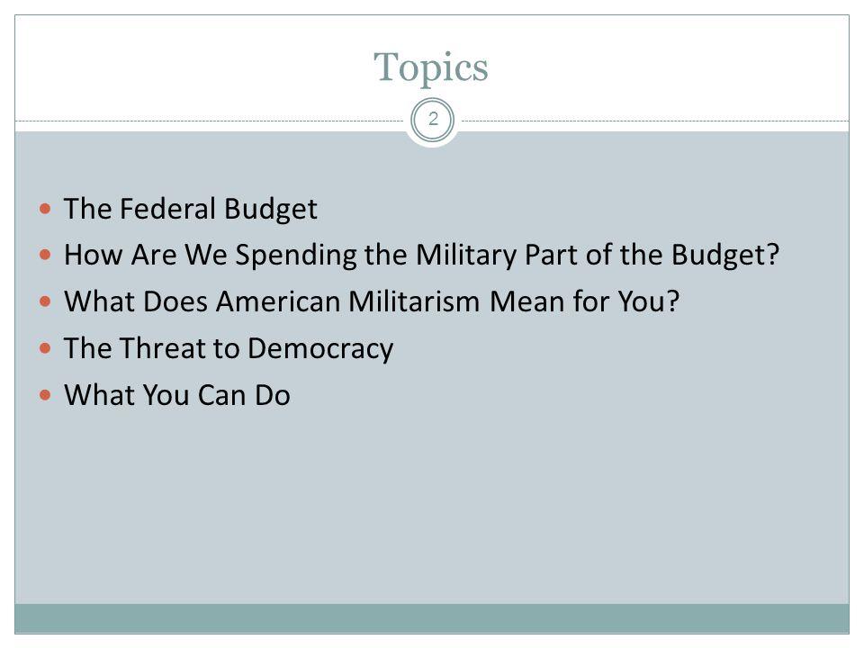 U.S.Discretionary Budget, FY 09 Source: Budget of the U.S.