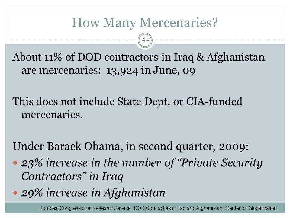 How Many Mercenaries.