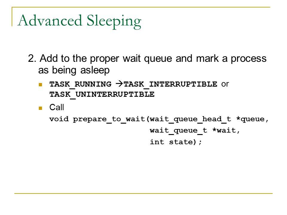 Advanced Sleeping 2.
