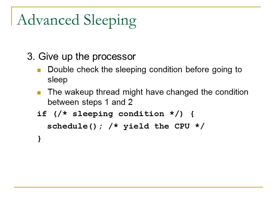 Advanced Sleeping 3.