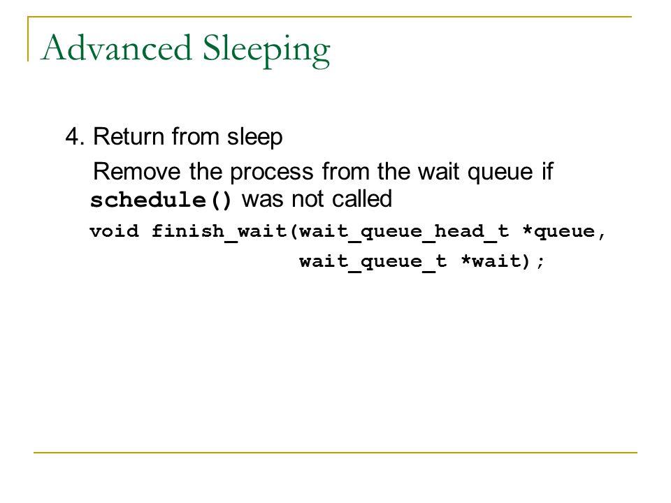 Advanced Sleeping 4.