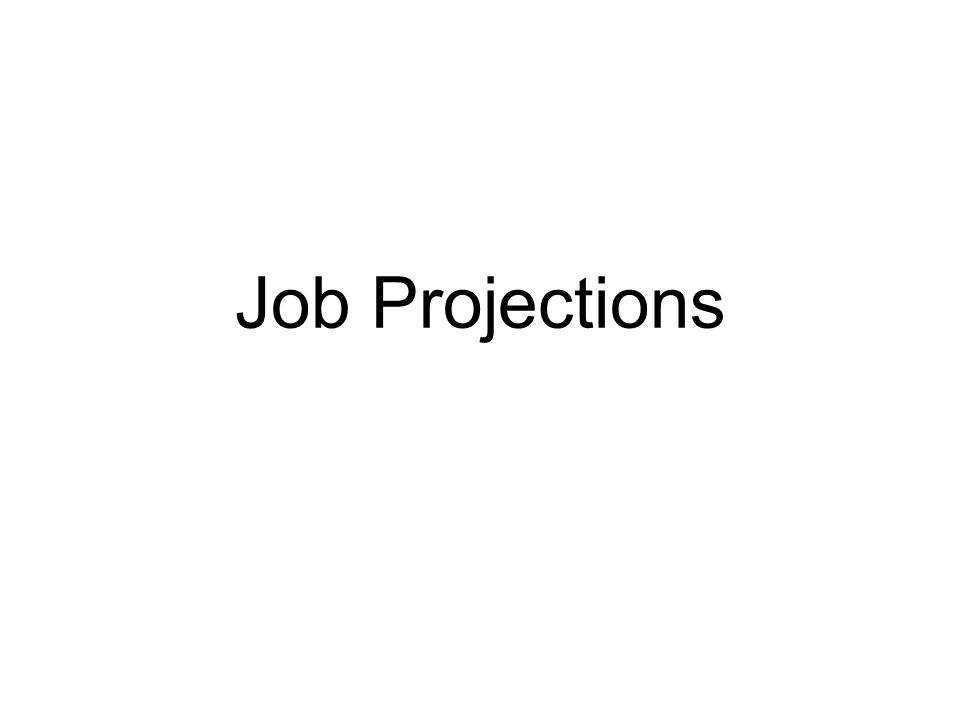 Job Projections
