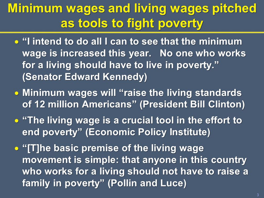 14 What about living wages.