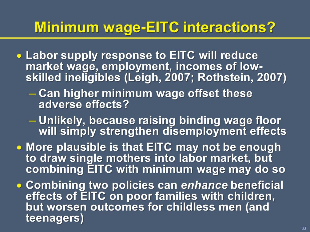 33 Minimum wage-EITC interactions.