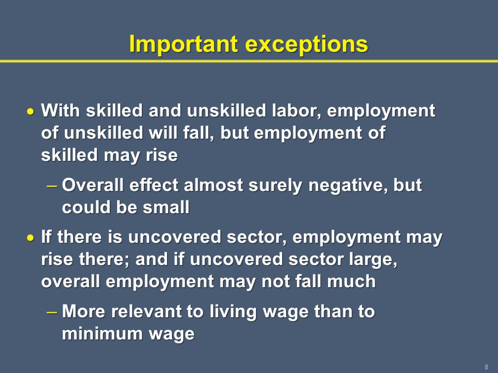 9 What does theory predict about distributional effects of wage floors.