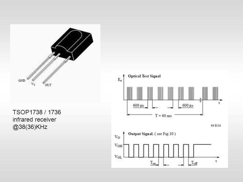 TSOP1738 / 1736 infrared receiver @38(36)KHz