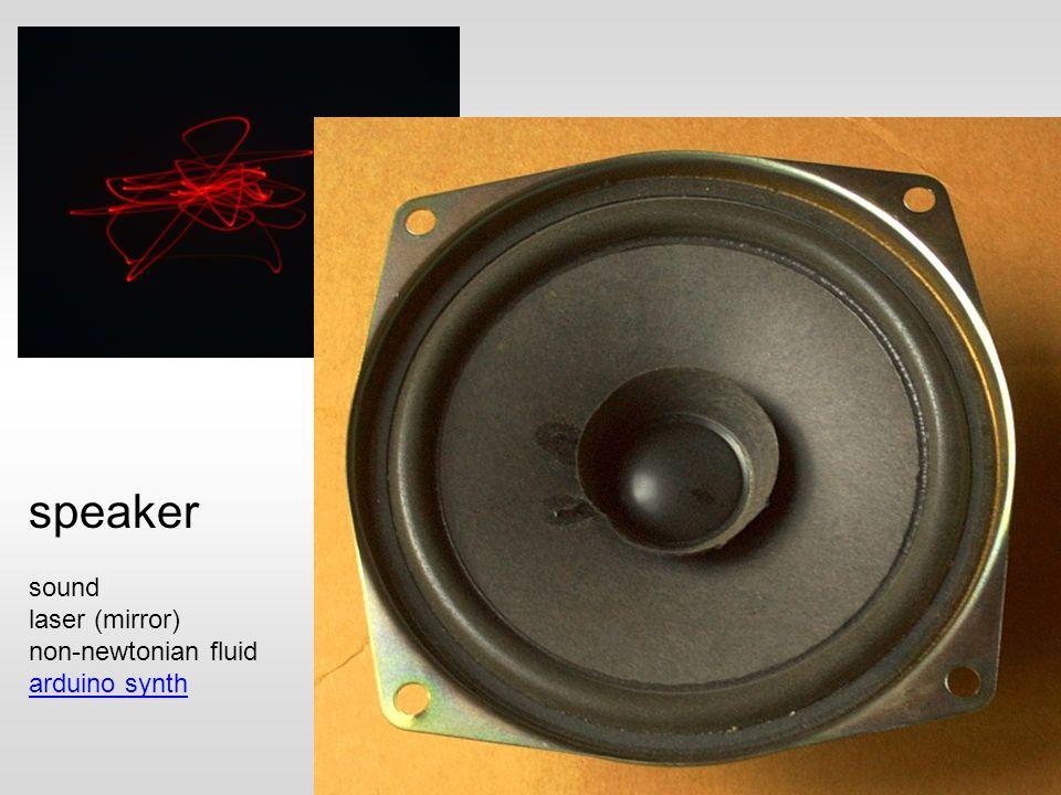 sound laser (mirror) non-newtonian fluid arduino synth speaker