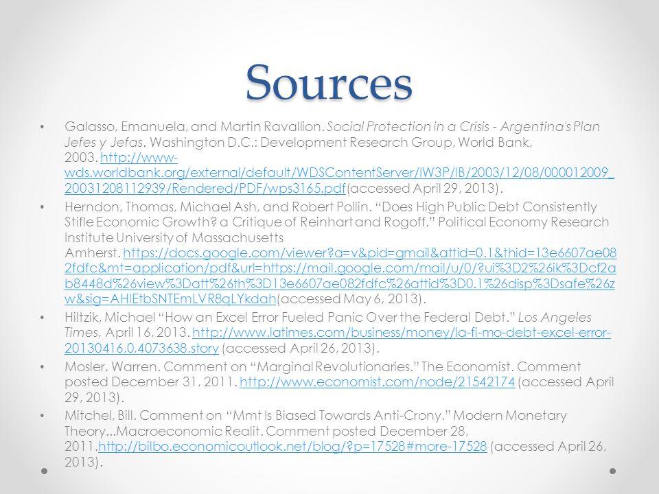 Sources Galasso, Emanuela, and Martin Ravallion. Social Protection in a Crisis - Argentina's Plan Jefes y Jefas. Washington D.C.: Development Research