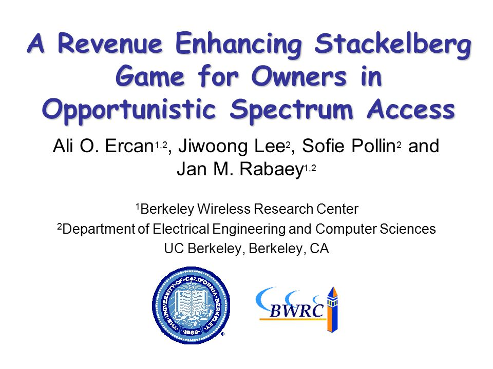 A Revenue Enhancing Stackelberg Game for Owners in Opportunistic Spectrum Access Ali O.