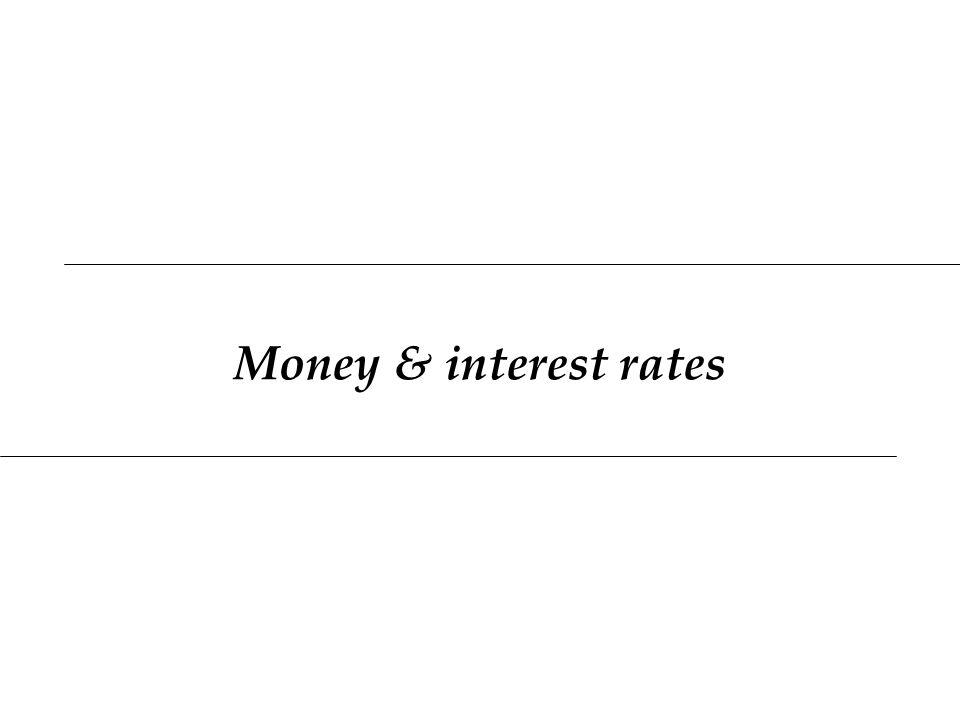 Money & interest rates
