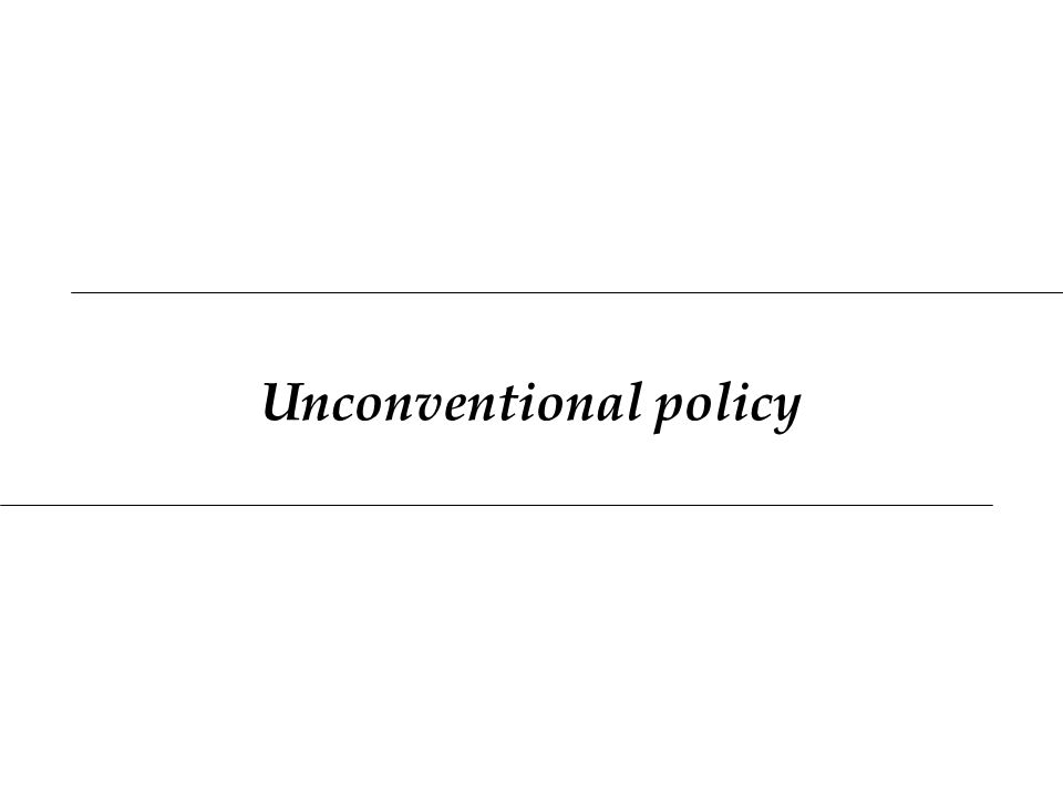 Unconventional policy