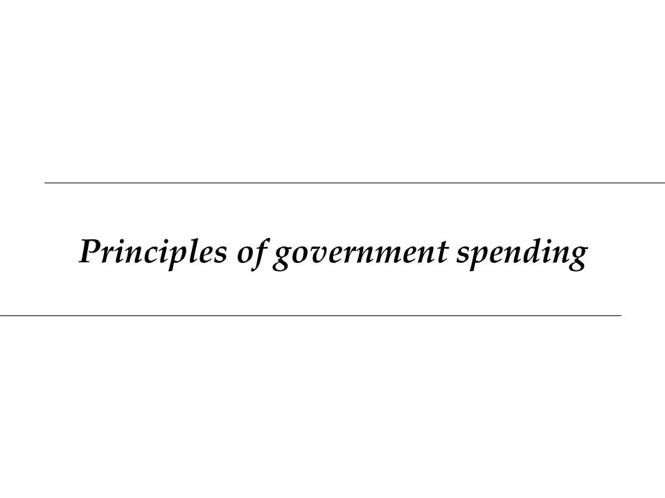 Principles of government spending